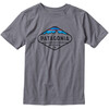 Patagonia Boys Fitz Roy Crest Cotton/Poly T-Shirt Narwhal Grey